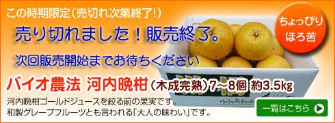 バイオ農法 河内晩柑(木成完熟)7〜8個 約3.5� 「あんしん」「あんぜん」「ほんもの」の通販ショップけんこうな食卓を創る会